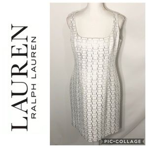 Ralph Lauren Silver Square Midi Dress